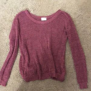 Purple/maroon sweater